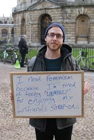Strapon Meme - without feminism this man apparently couldn t enjoy his girlfriend s