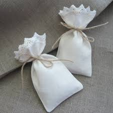small favor bags tiny favor bags white linen sachets fabric gift bags seed