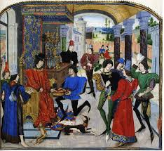 ag es chambre charles the bold receiving the presentation copy of the book in a