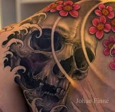 traditional japanese skull tattoos traditional