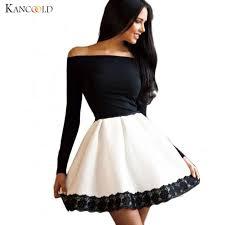 modern dress modern women casual sleeve patchwork mini dress autumn