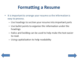 Resume With Bullet Points Get Noticed With An Interactive Resume Ppt Download