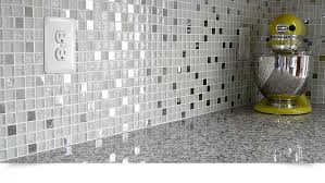 MODERN White Glass Metal Kitchen Backsplash Tile Backsplashcom - Metal kitchen backsplash