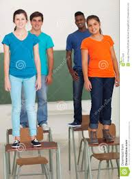 Desks For High School Students students standing desks royalty free stock images image 31577829
