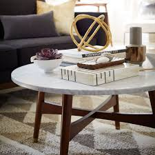 reeve mid century coffee table marble walnut west elm uk