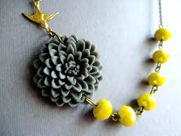 yellow necklace set images Yellow jewelry set wedding jewelry flower jewelry necklace jpg