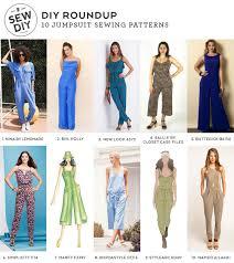 Jumpsuit Stitching Pattern | diy roundup 10 jumpsuit sewing patterns sew diy
