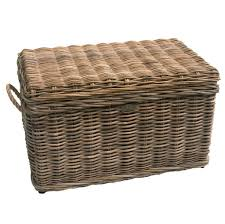 Coffee Table Chests Furniture Interesting Wicker Storage Trunk With Handle