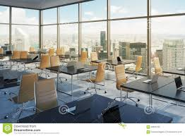 Office View by Workplaces In A Modern Corner Panoramic Office New York City View