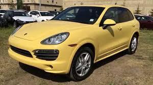 porsche cayenne review 2012 pre owned yellow 2012 porsche cayenne awd walk around review