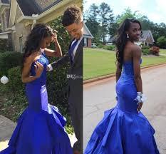 mermaid prom dresses 2017 one shoulder sleeveless backless sweep