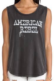 Black American Flag Tank Top Lyst Chaser American Rebel Tank In Black