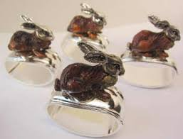 porcelain animal ring holder images Animal napkin rings for a fun table thingzweluv jpg