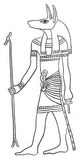 flag of egypt coloring page a head figure of god anubis from ancient egypt colouring page