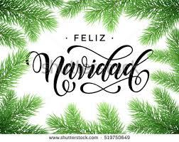 feliz navidad christmas card feliz navidad merry christmas tree stock vector 519750649