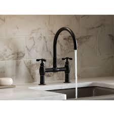 Kohler Oil Rubbed Bronze Kitchen Faucet Kohler K 6130 3 Vs Parq Vibrant Stainless Steel Two Handle Bridge