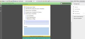 how to create a checklist in canva with video training