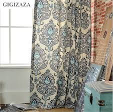 Paisley Curtains American Style Paisley Print Cotton Blinds Shading Window Curtains