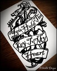 you hold the key to my heart valentine gothic human anatomical