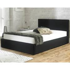 Ottoman Bed Black Discounted Stirling 5ft King Size Black Fabric Ottoman Storage Bed