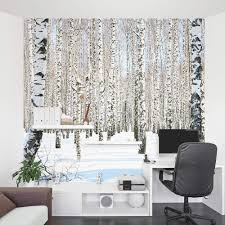 Pictures For Office Walls by Winter Birch Trees Wall Mural