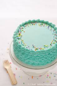 Cake Decorating Supplies Ontario I Heart Baking Blue Funfetti Birthday Cake With Piped Shell