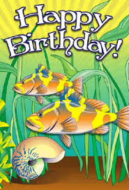 snail and fish birthday card png