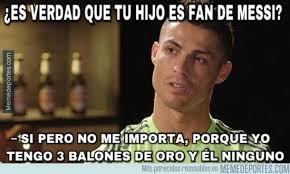 Memes Sobre Messi - memedeportes la opinión de cristiano sobre su hijo por ser fan de