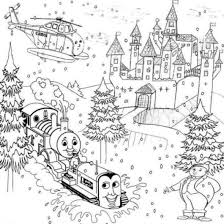 thomas on snow christmas coloring pages cartoon coloring pages