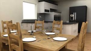 kitchen diner 3ds max vray youtube