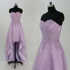 lavender prom dresses lace applique bridesmaid dress organza prom
