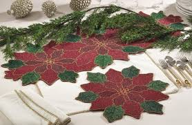 hand beaded table runners hand beaded pointsettia table runner placemat www fenncostyles com