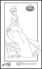 cinderella color pages disney princess cinderella coloring pages minister coloring
