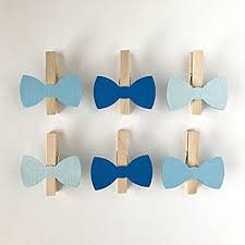 bow tie baby shower decorations blue bow tie clothespins baby shower decoration don t