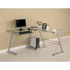 Metal Computer Desk Glass And Metal Computer Desk Desk Design Modern Glass L