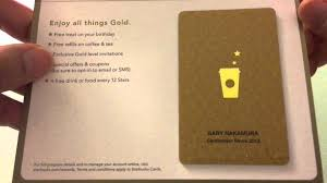 opening my starbucks gold card
