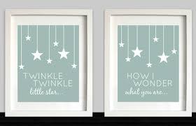 twinkle twinkle little star nursery wall art nursery zoom