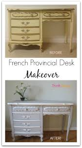 how to paint your old french provincial furniture desk makeover