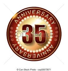 35 year anniversary 35 years anniversary golden label vectors illustration search