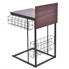 sofa side table with storage baskets accent tables tables