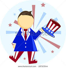 paper cut style illustration american patriot stock illustration