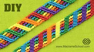 bracelet pattern tutorials images Colorful rainbow bracelet tutorial macrame school jpg