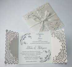 Fancy Wedding Invitation Cards Aliexpress Com Buy 50 Personalized Pearl Ivory Lace Floral