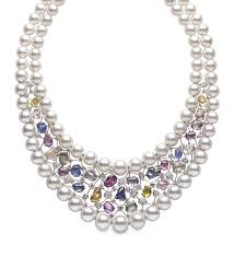 coloured pearls necklace images Hot hues jewellers combine pearls with coloured gemstones for a jpg