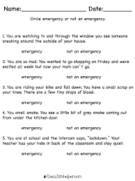 Shopping Worksheets All About Emergencies The Autism Helper