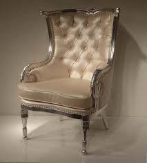 cream tufted chair silver frame chairs