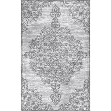 White And Gray Rugs Nuloom Thigpen Grey 5 Ft X 8 Ft Area Rug Bdsm04a 508 The Home