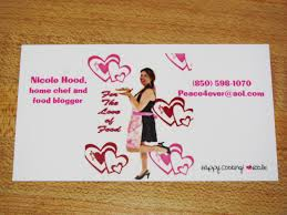 Vistaprint Business Email by For The Love Of Food New Blog Business Cards