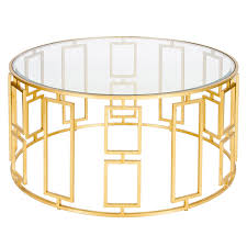 Round Glass And Metal Coffee Table Gold Side Tables The Midas Touch Gold Side Table Styling