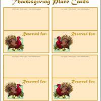 turkey place cards thanksgiving name tags